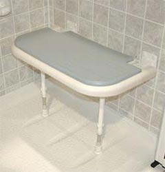 Handicap Seat Padded Wall Mounted Shower Seat
