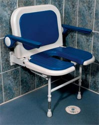 folding wall mounted shower commode chair